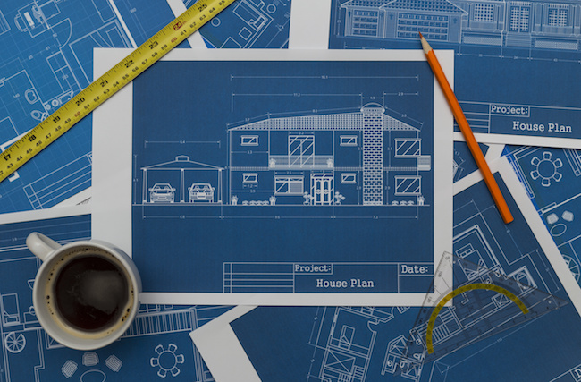 Blueprints for building a home