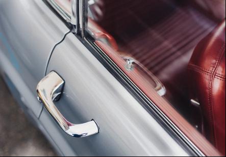 Silver car door