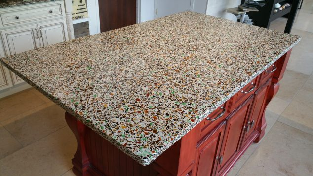 Custom Glass Kitchen Countertop