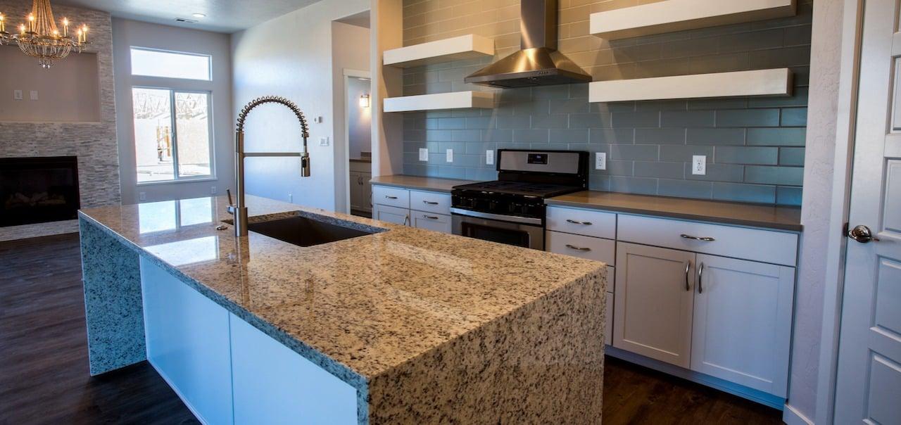 granite countertop in a home kitchen