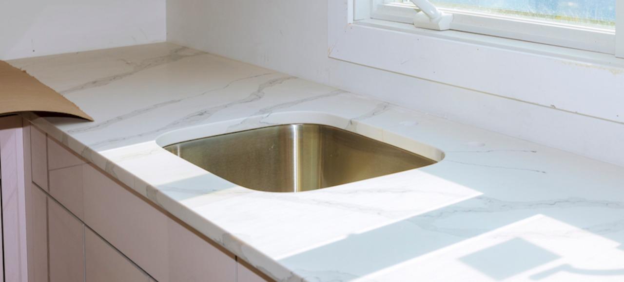 laminate countertop in sunny kitchen