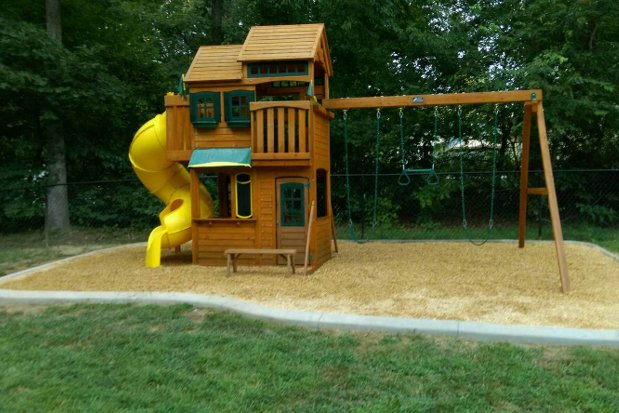 Playground Ideas For Backyard backyard playground ideas furthermore border backyard playground ideas Playground