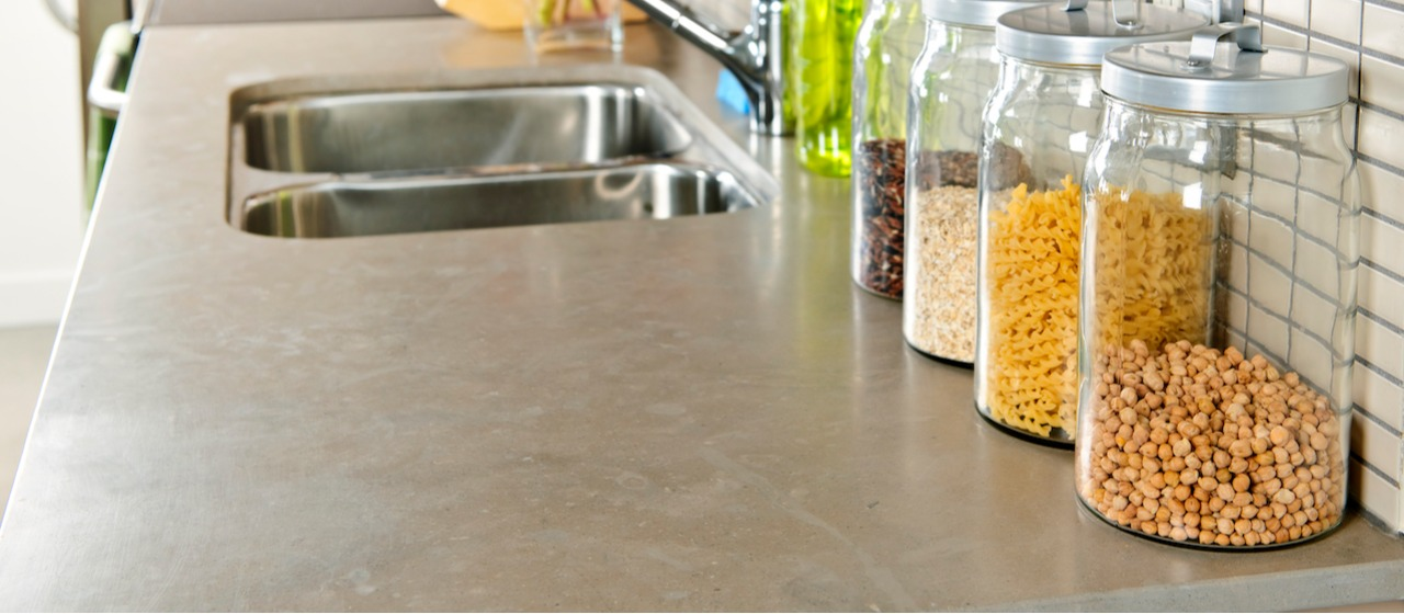 stone countertop in kitchen