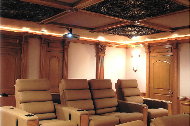 Woodwork in a Home Theater