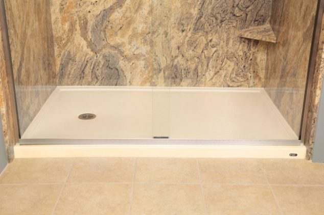 Fibergl Shower Floor
