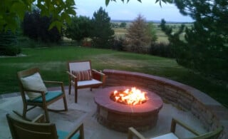 Outdoor Fire Pit at Night