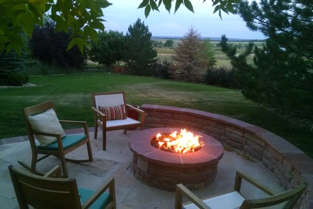 summer nights with outdoor fire pits