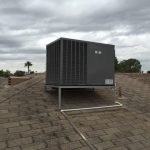 Roof heat pump system