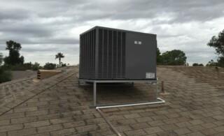 Roof heat pump system