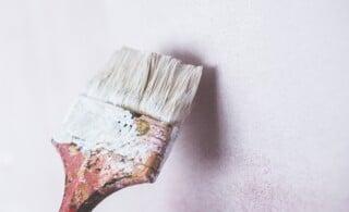 White paint brush