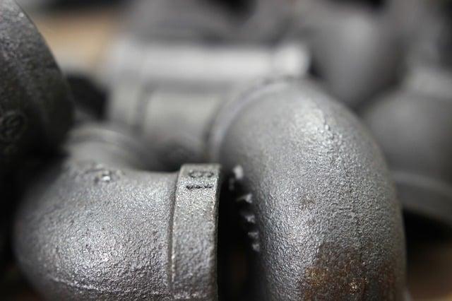 Iron plumbing pipes