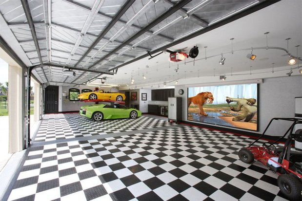 Garage Floor Covering Durability Benefits Paint Tile