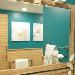 Wood Veneer in Bathroom