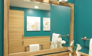 Wood Veneer in Bathroom