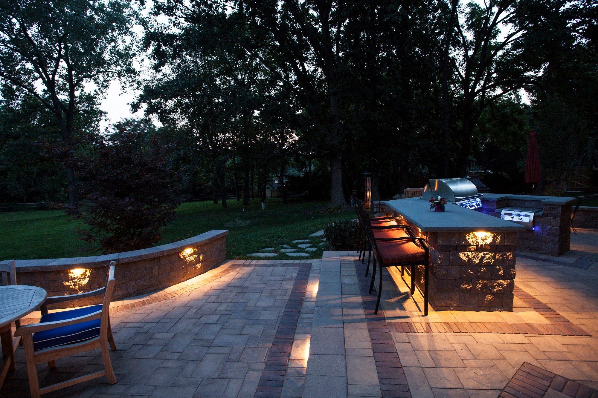 Outdoor landscape lighting design installation homeadvisor outdoor lighting aloadofball Image collections