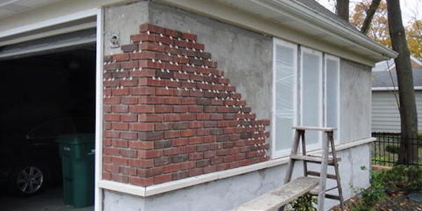 Brick veneer siding homeadvisor for How to install stone veneer over stucco