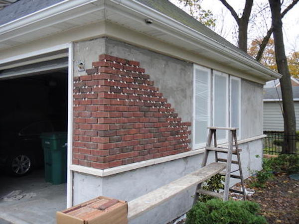 Brick veneer siding homeadvisor for What is brick veneer house