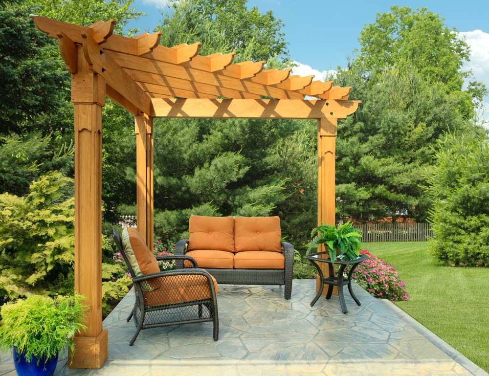Building a pergola arbor or trellis costs considerations for Trellis or arbor