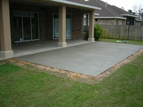 Attractive Pouring Concrete Patios