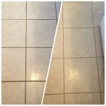 grout repair - before/after