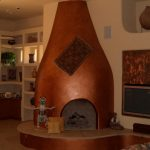 Kiva copper fireplace