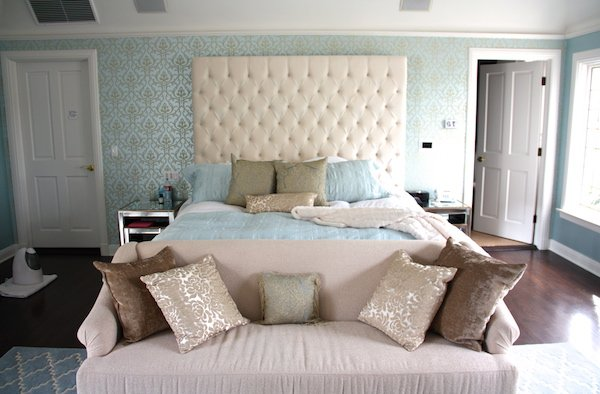Painting wallpaper estimates costs articles photos for Light blue wallpaper bedroom
