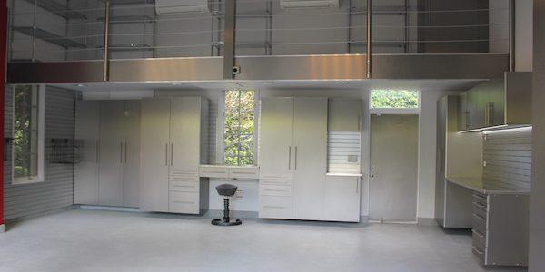 Steel framed garage