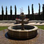 Cantera stone fountain