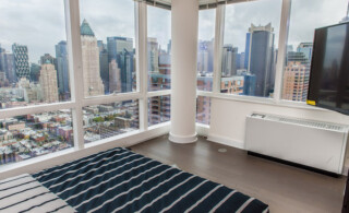 Apartment white radiator