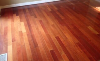 Pre-finished wood flooring