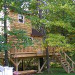 Wood treehouse