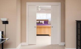Pocket bedroom doors