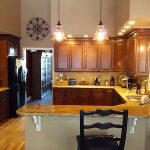 Solid surface kitchen counter