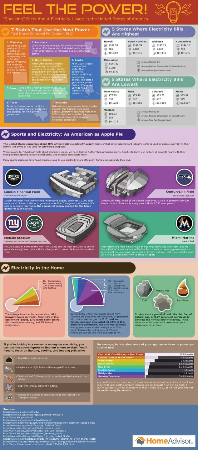 United States Electricity Usage Facts