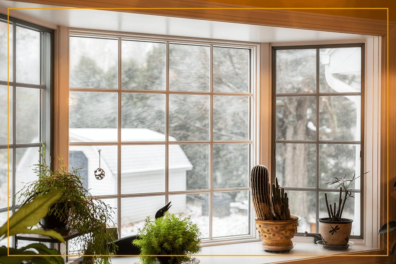 bay window looking to outside