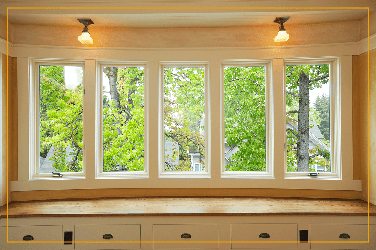 bow window in living room
