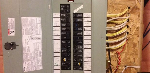 on electrical wiring panel