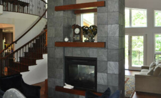 Fireplace in Open Space