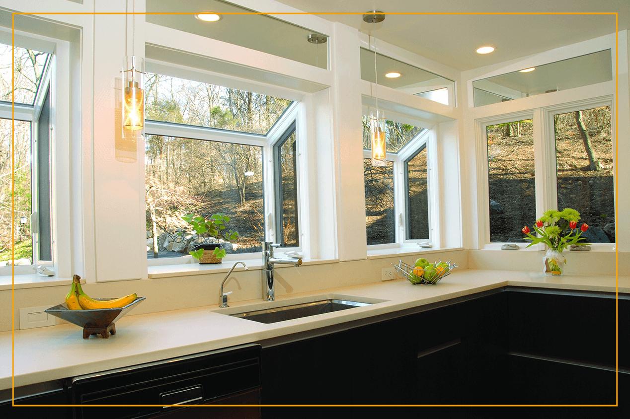 garden windows in kitchen
