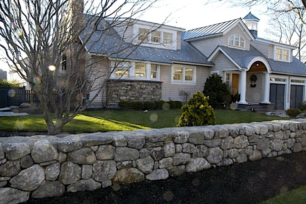 Home exterior with wall