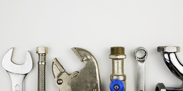 overhead of an essential tool kit for plumber