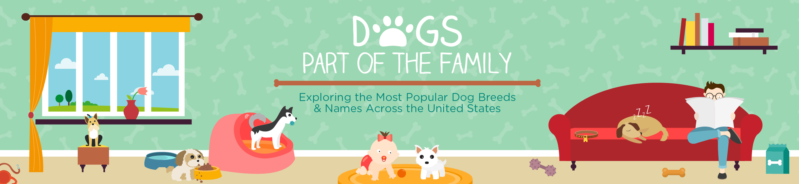 Dogs part of the family