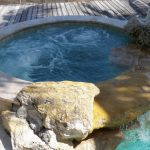 Round Hot Tub Inground Installed