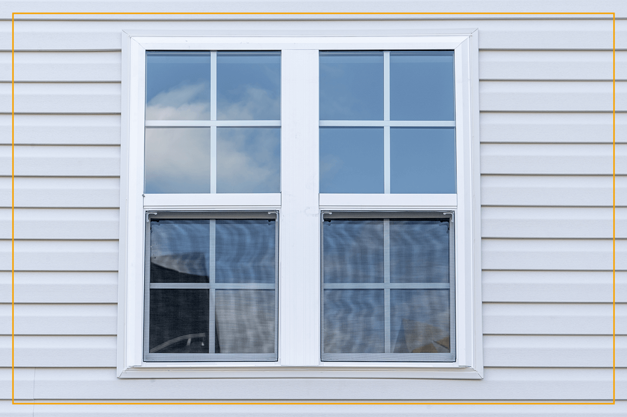 storm window on house