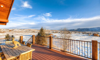 Wooden Deck in the Snow