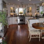 Kitchen with barn wood floor