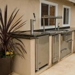 Outdoor kitchen with freezer