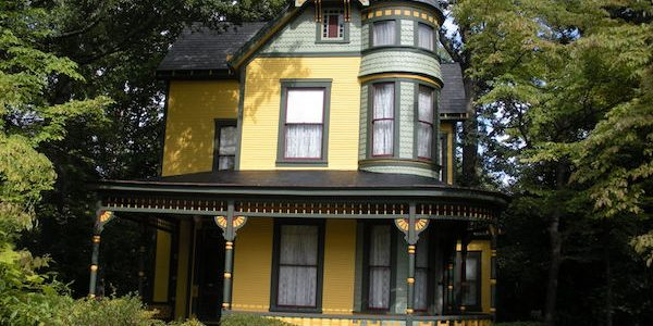 Yellow Victorian home