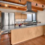 Kitchen with visible ductwork