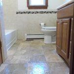 White bathroom heater